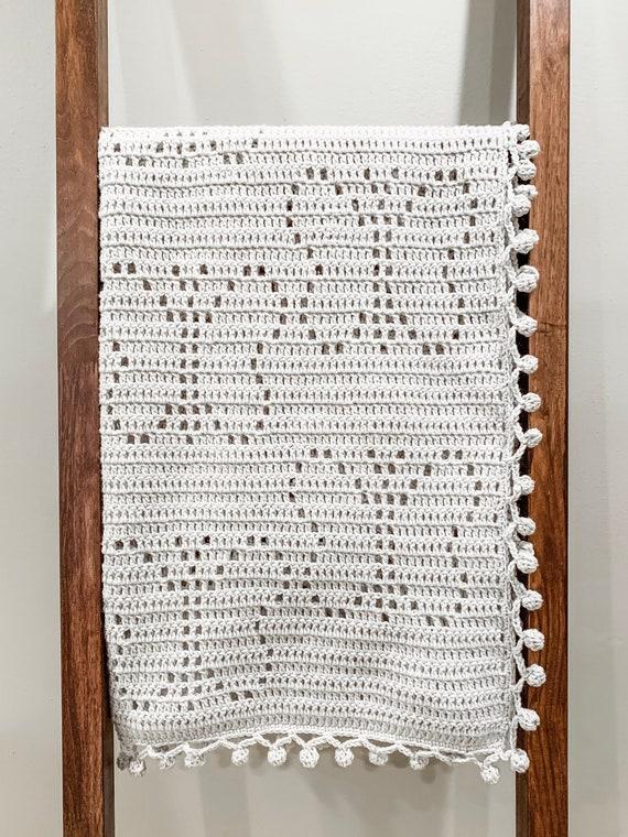 Vintage Knitting Pattern Hearts /& Stripes blanket DK yarn throw afghan repro
