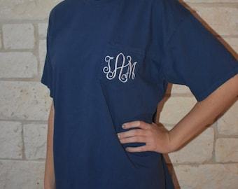 Comfort Colors Short Sleeve Monogrammed Pocket T-Shirt