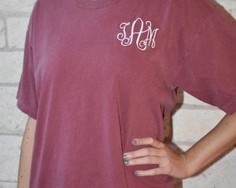 Comfort Colors Short Sleeve Monogrammed T-Shirt