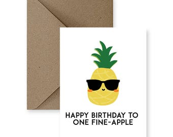 Funny Birthday Card For Friend Him Cute Her Boyfriend Pineapple Gifts