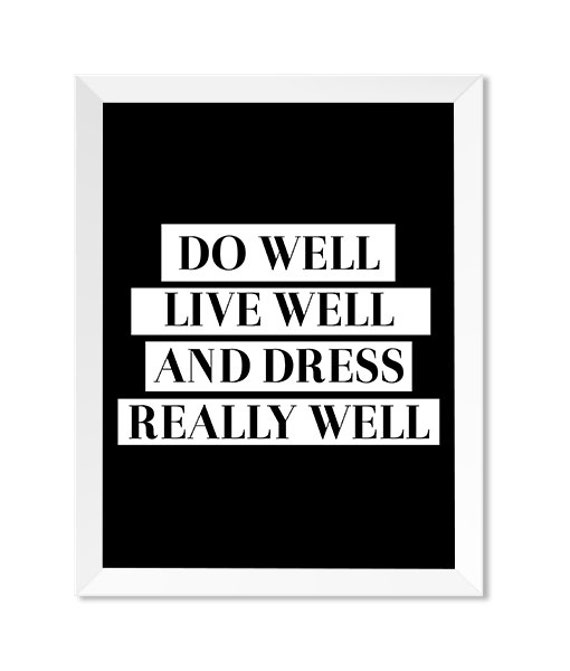 Fashion Quote Prints Fashion Wall Art Black And White Etsy