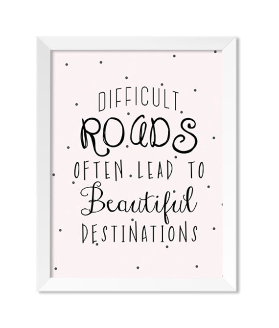 Inspirational Quotes Print Cute Quotes Print Inspirational Etsy