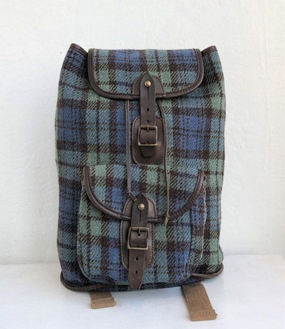 HARRIS TWEED  Glenalmond Tweed Company Leather Bac
