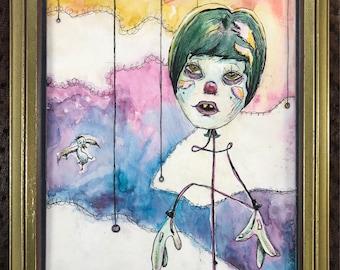 Balloon Boy (original framed painting)