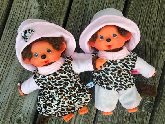 Clothing for MONCHICHI Gr. 20 Twins Animal Print & Rosé doll clothes