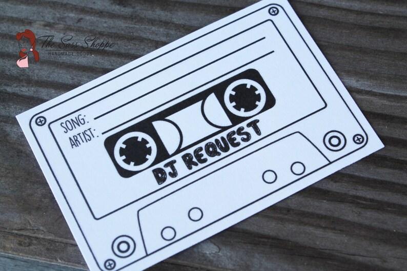 DJ Song Request Slips, Retro Inspired Cassette Design for Wedding, Shower,  Retirement, or Birthday Party - 2 5