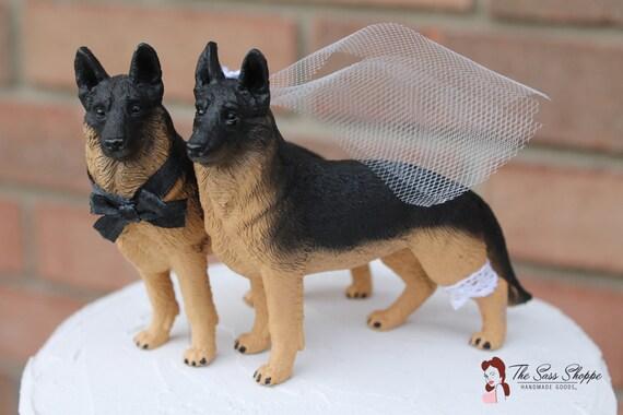 German Shepherd Bride And Groom Wedding Cake Topper For Etsy