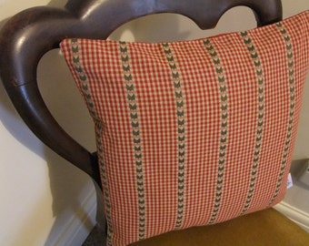 Red Check Country Cushion