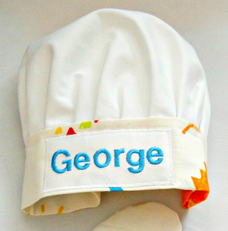 13f9dc8096d08 Personalized Chef Hat Baby Toddler Child s Chef Hat