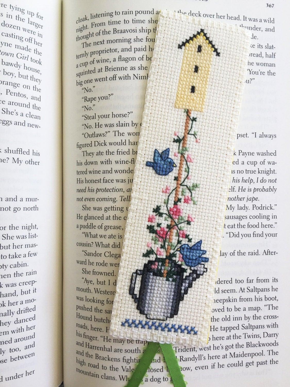 Fini de croix au point marque-page ' ma fleur de Cour IV ...