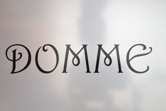 Window Decal Domme St 030c Etsy