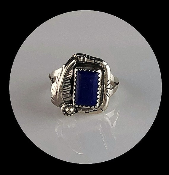 FREE SHIPPING Vintage Navajo Custom Handcrafted Cast Sterling Channel Set In-Lay Opal /& Lapis Lazuli Slide Pendant