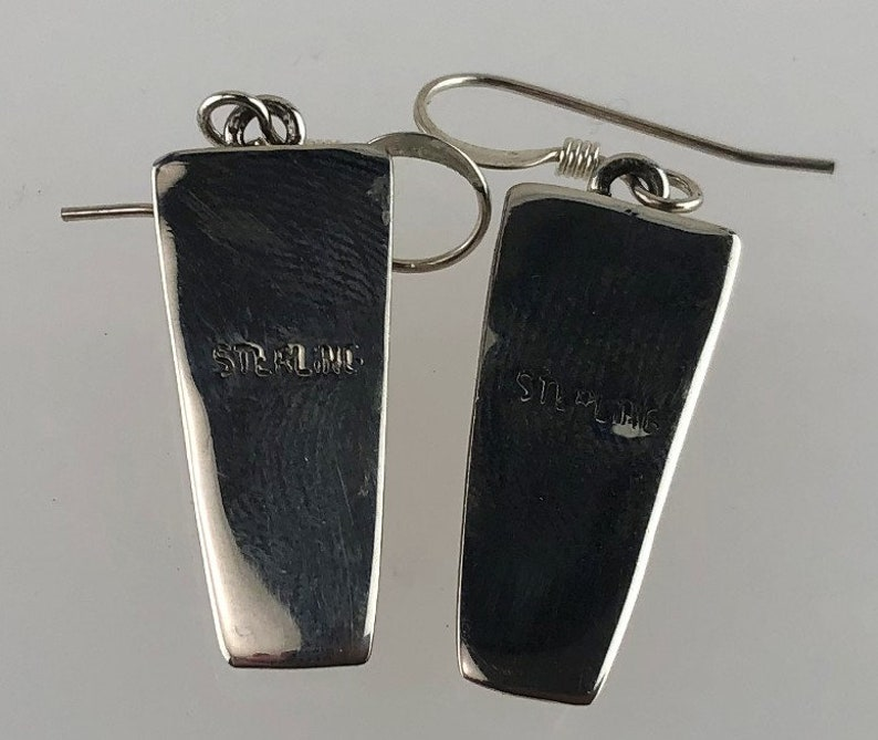 Native American Sterling and Spiny Oyster Earrings