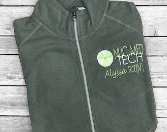 Personalized Nuclear Med Tech fleece jacket, Radiology, Occupational Jacket, Rad Tech, Graduation Gift, Nuclear Medicine
