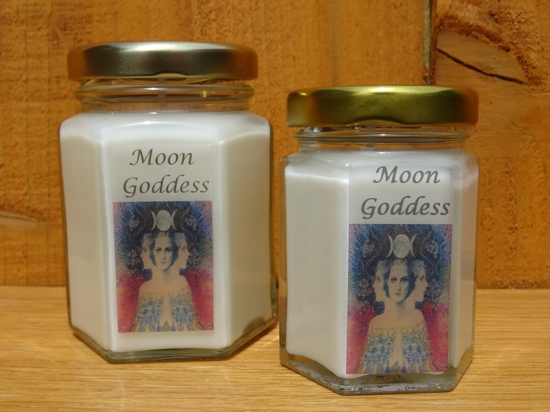 The Moon Goddess Scented Candles Scented Luna Candle Wicca Candle Magic