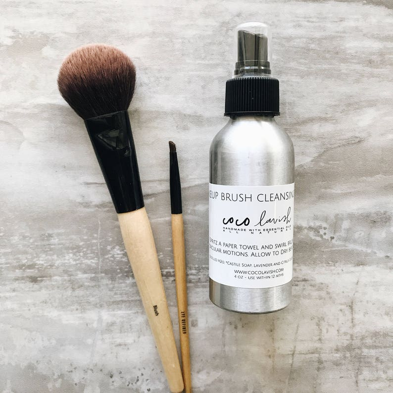 MAKEUP BRUSH CLEANSER // brush cleaning spray // makeup image 0