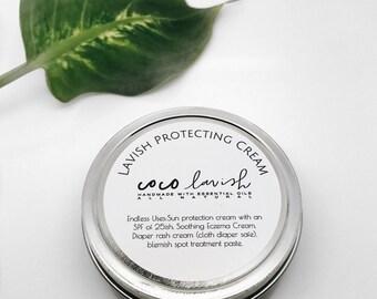 PROTECTIVE CREAM / Eczema / cream / diaper rash cream / zinc / sunblock / sun protection / cloth diaper / soothing cream / organic spf / spf