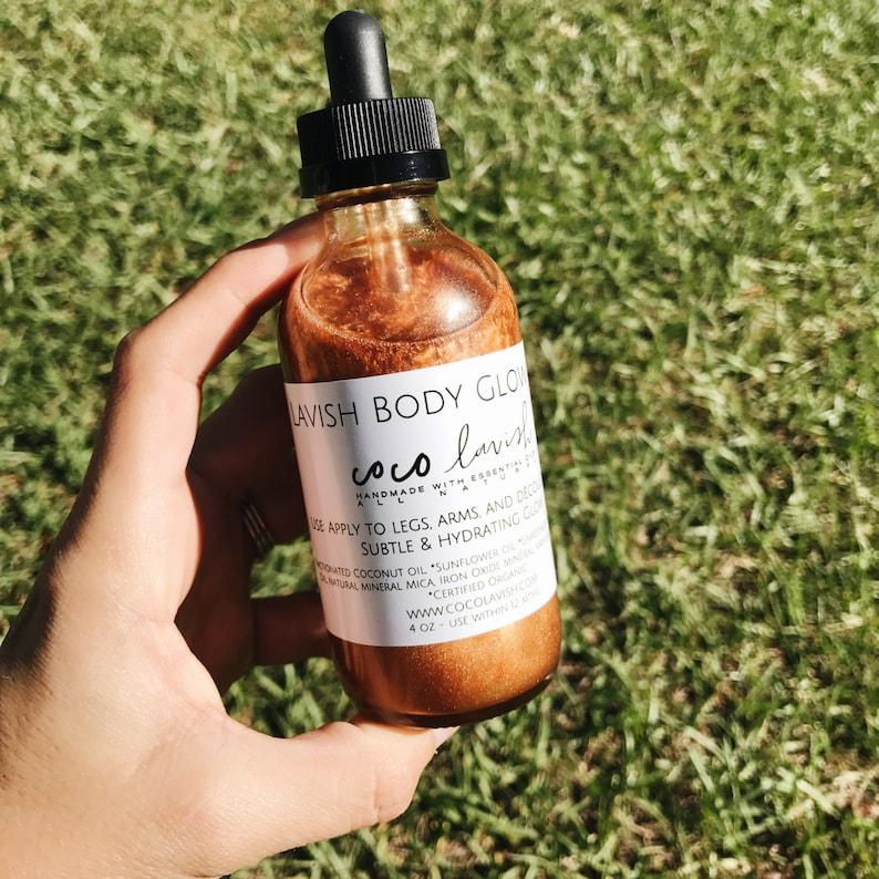 BODY GLOW OIL // body moisturizer // body oil // essential oil image 0