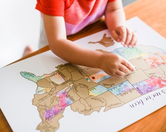 Scratch Off Map | Travel Map | Places We've Been | United States Map | Travel Gift | 'Been There Scratched That'