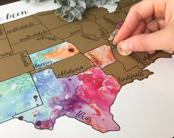 Scratch Off Map | Travel Map | United States Map | Travel Gift | 'Been There Scratched That'