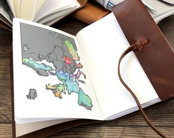 Travel Scratch Journal - Europe Original - Scratch Off Journal - Travel Gift - Wanderlust - Adventure Journal