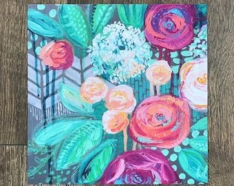 """Floral Giclee Print- """"Wintergreen Rose"""""""