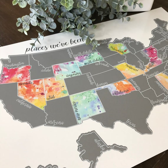 Silver Scratch Off Map - United States of America Travel Map (USA)- Been  There Scratched That - Christmas Gift - Holiday