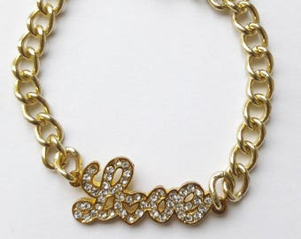 Love two tone gold bracelet
