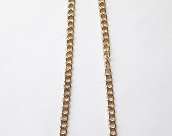 Believe two tone gold necklace