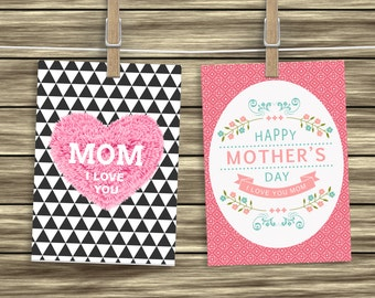 PRINTABLE. Mother's Day cards. Greeting Cards for Mom. Mothers Day Cards. Mothers Day Ideas. Gift for Mom. Gift for Her.Card for Mom.