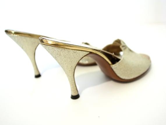 df9cefcca00 GOLD LAME SPRINGOLATOR 1950s Heels VS14 Stiletto 50s pinup