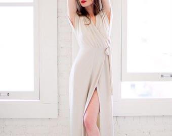 Alexis Dress • handmade wrap dress • knit wrap dress