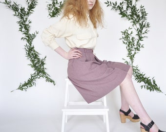 Carrie culottes • vintage 1970s violet shorts • 70s poly high waist culottes