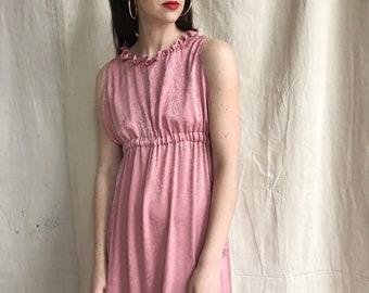 Gaia dress ~ maxi empire dress ~ mauve pink rayon empire caftan