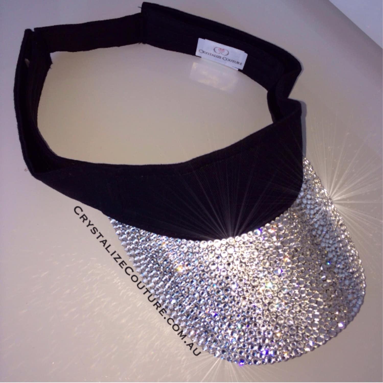 BLING sun visor embellished in Genuime Swarovski crystals   5901feb5c5a