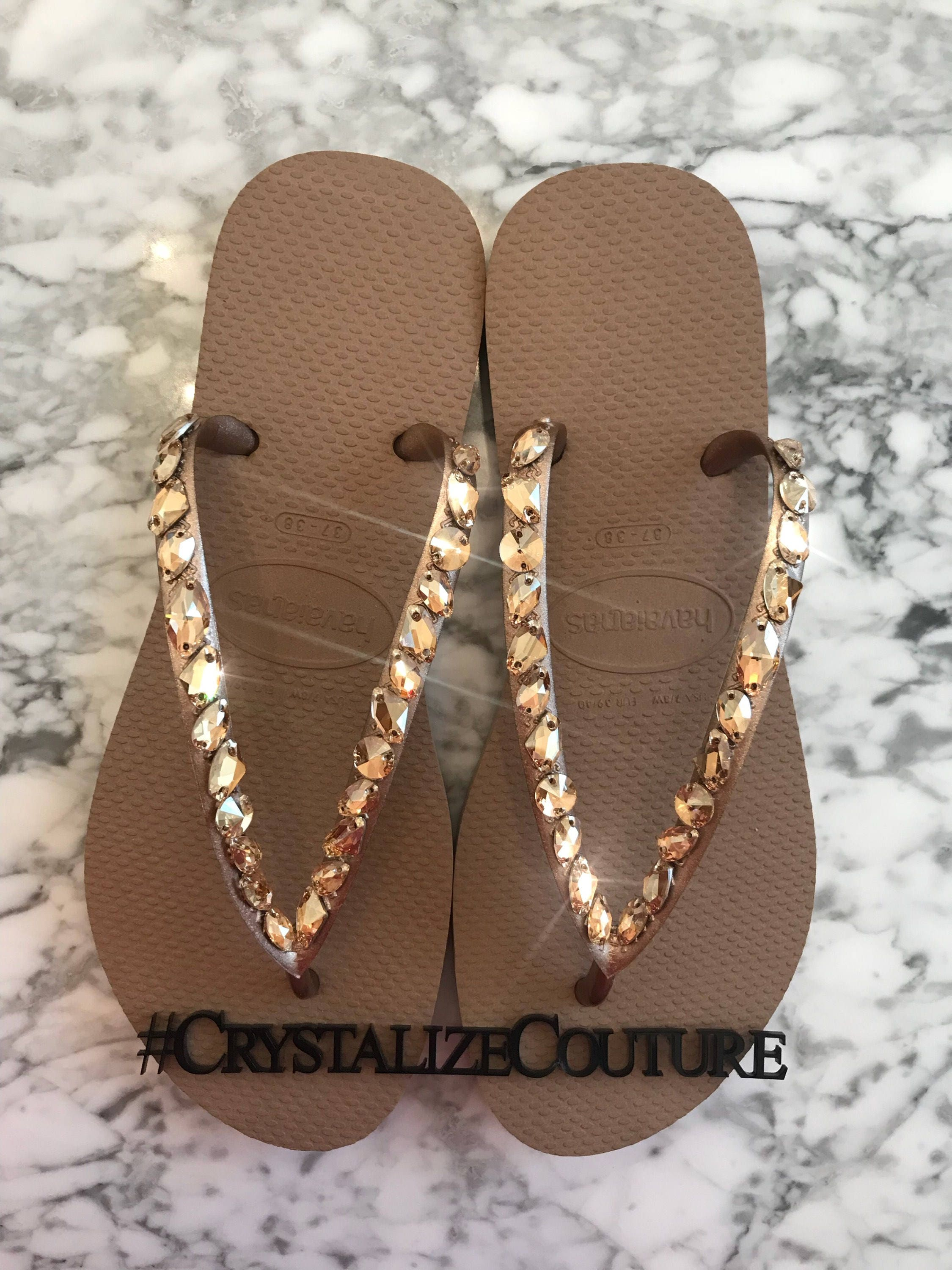 0c006199a66888 NEW Havaianas embellished in large Swarovski crystals