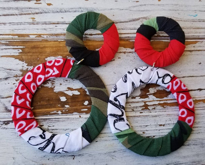 Camo and bands Earrings