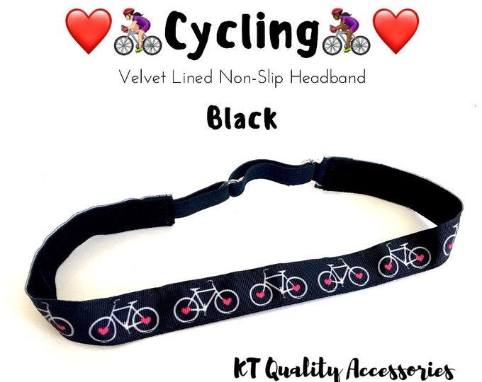 Cycling Bicycle Headband,  Fitness Headband, Workout Headband, Nonslip, No Slip Sports Headband, Adjustable