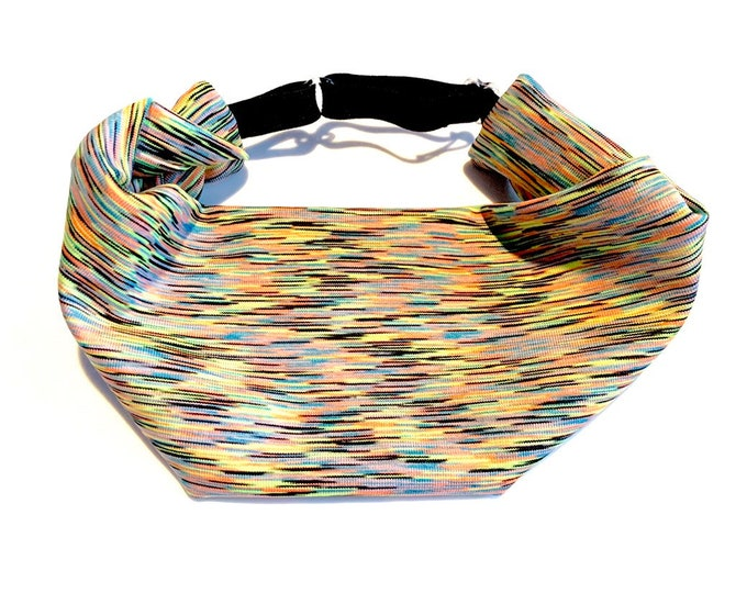 Multicolor Space Dye Adjustable Head Wrap: Perfect moisture wicking, performance headband for tough workouts!