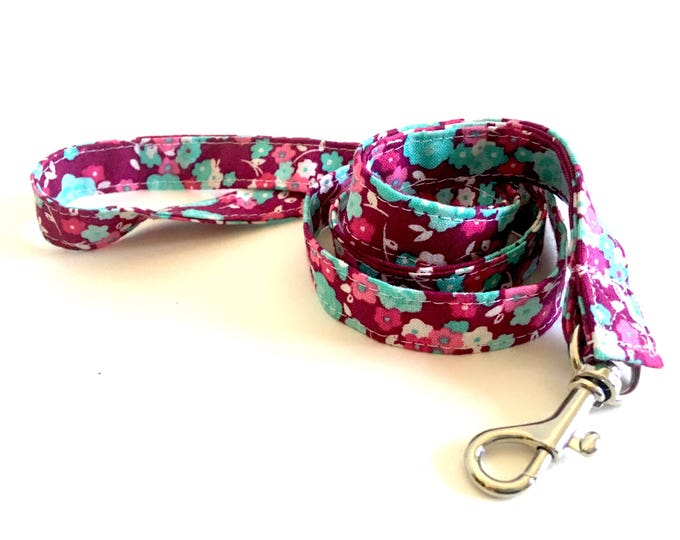 Pink Floral, Lanyard, Badge Holder, Name tag Holder