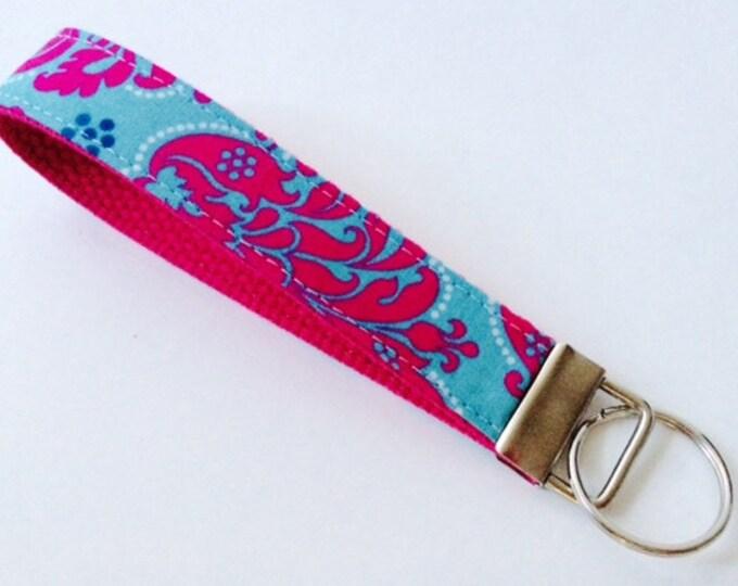 Wristlet Key Fob Key Chain Keychain Keychains Fabric Gift