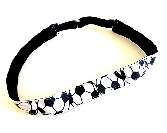 Running Headband,  Fitness Headband, Workout Headband, Nonslip, No Slip Sports Headband, Adjustable - Soccer Headband