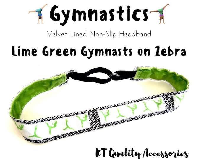 Gymnastics Headband,  Fitness Headband, Workout Headband, Nonslip, No Slip Sports Headband, Adjustable