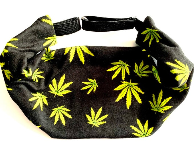 Weed Marijuana Yoga Headband: The perfect adjustable head wrap for running, crossfit, workouts, and sports!