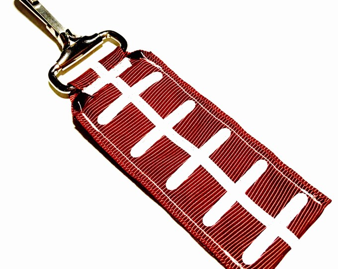 Football Seams Key Chain Lip Balm Holder, perfect gift for nurses, coaches, athletes, teachers and more!