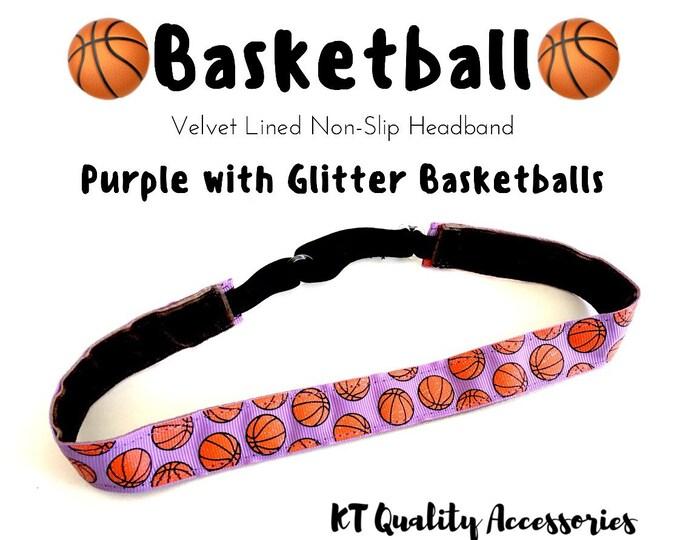 Basketball Headband,  Fitness Headband, Workout Headband, Nonslip, No Slip Sports Headband, Adjustable
