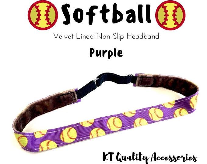 Softball Headband,  Fitness Headband, Workout Headband, Nonslip, No Slip Sports Headband, Adjustable