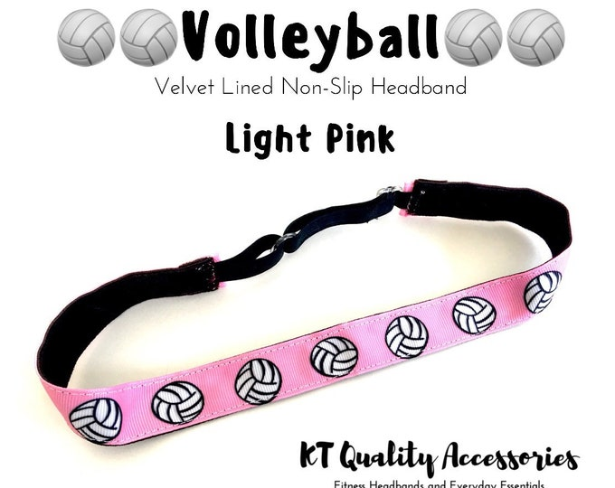 Volleyball Headband,  Fitness Headband, Workout Headband, Nonslip, No Slip Sports Headband, Adjustable