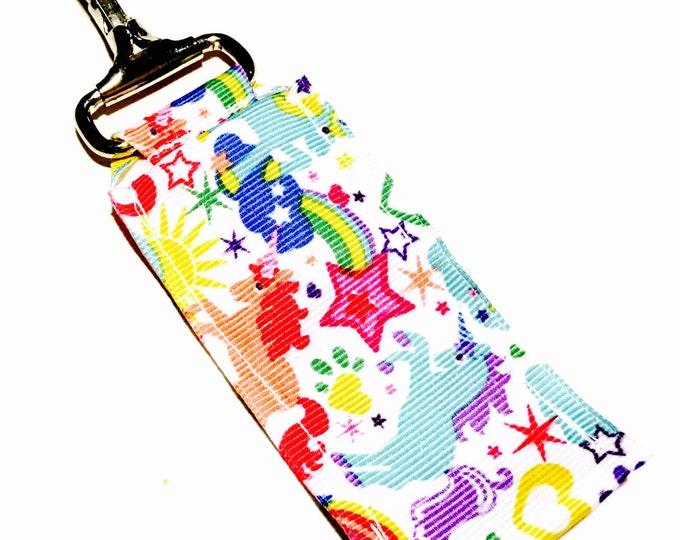 Unicorn Key Chain Lip Balm Holder, perfect gift for nurses, coaches, athletes, teachers and more!