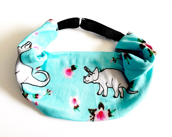 Pretty Dinosaurs Yoga Headband: The perfect adjustable head wrap for running, crossfit, workouts, and sports!